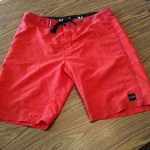 Hurley board shorts, 36x10, fire orange